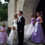 Bild: Maria Nömel och Joakim Nömell, bröllop Österhaninge Kyrka