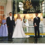 Bild: Bröllop, Joakim Nömell och Maria Nömell Österhaninge Kyrka