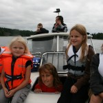 Bild: Elliot Pålsson, Emilia Nömell, Linn Ståhl, Denise Nömell och Jesper Nömell på Bonum 25