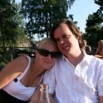 Bild: Maria Nömell och Joakim på Rånökällan