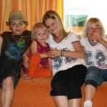 Bild: Jesper Nömell, Miranda Nömell, Denise Nömell, Emilia Nömell på Silja Line kryssning