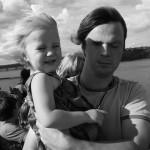 Bild: Joakim Nömell med Miranda Nömell på Silja kryssning