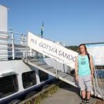 Bild: Joakim Nömell vid Gotska Sandö båten