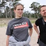 Bild: Karin Egrelius och Thomas Egrelius på Gotska Sandön