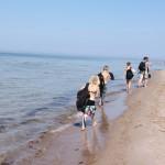 Bild: Vandring längs stranden på Gotska Sandön