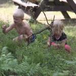 Bild: Barnen i blåbärsriset på Rånö