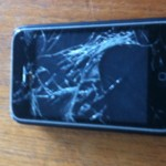 iPhone 3GS med trasig display