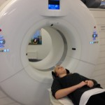 Bild: Denise Nömell gör en CT, Datortomografi