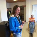Bild: Joakim Nömell föreläser om iPhone och iPad på SRF Östergötland