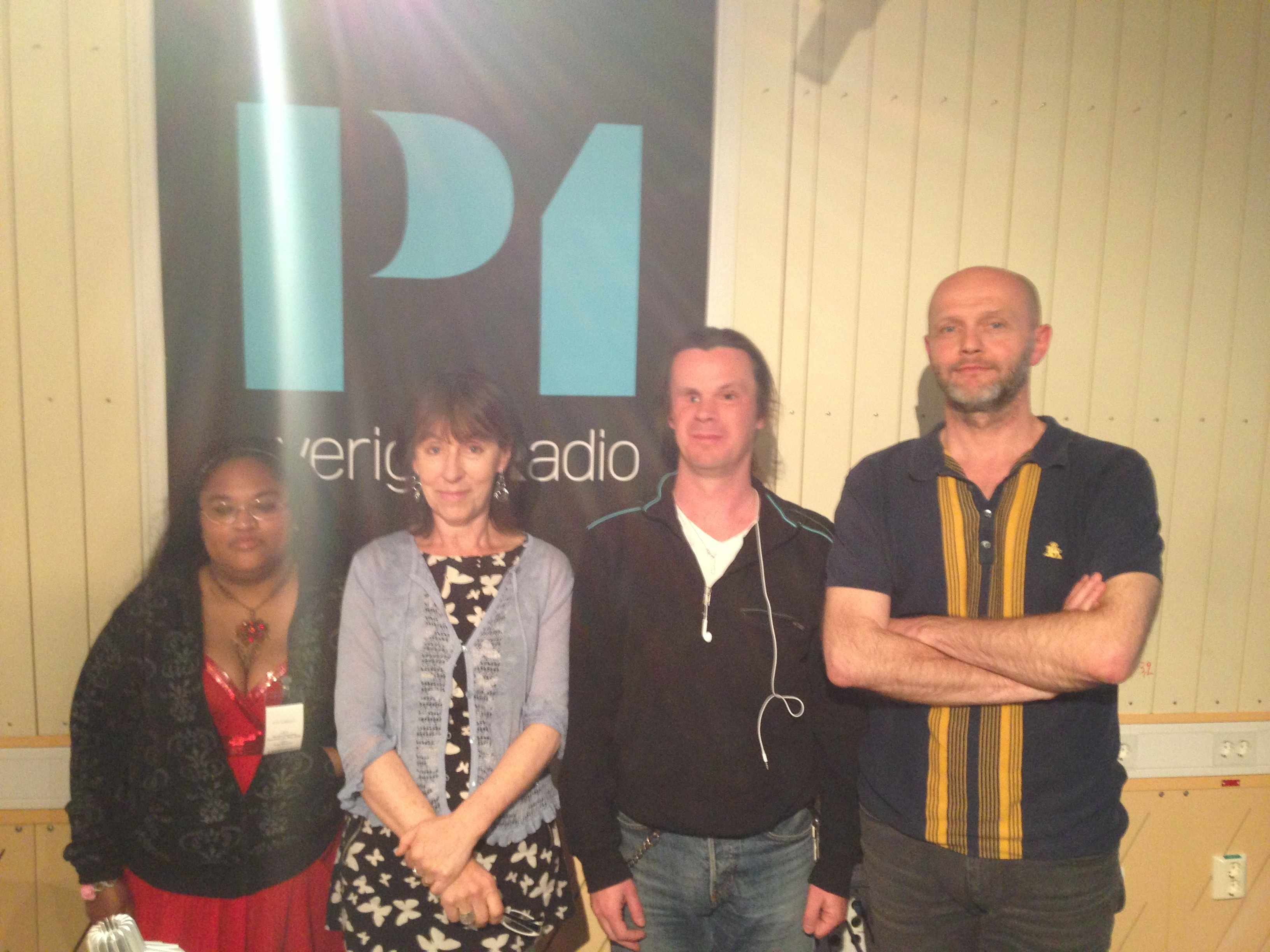 Bild: Joakim Nömell & Veronica Söderberg i Studio 1 i P1