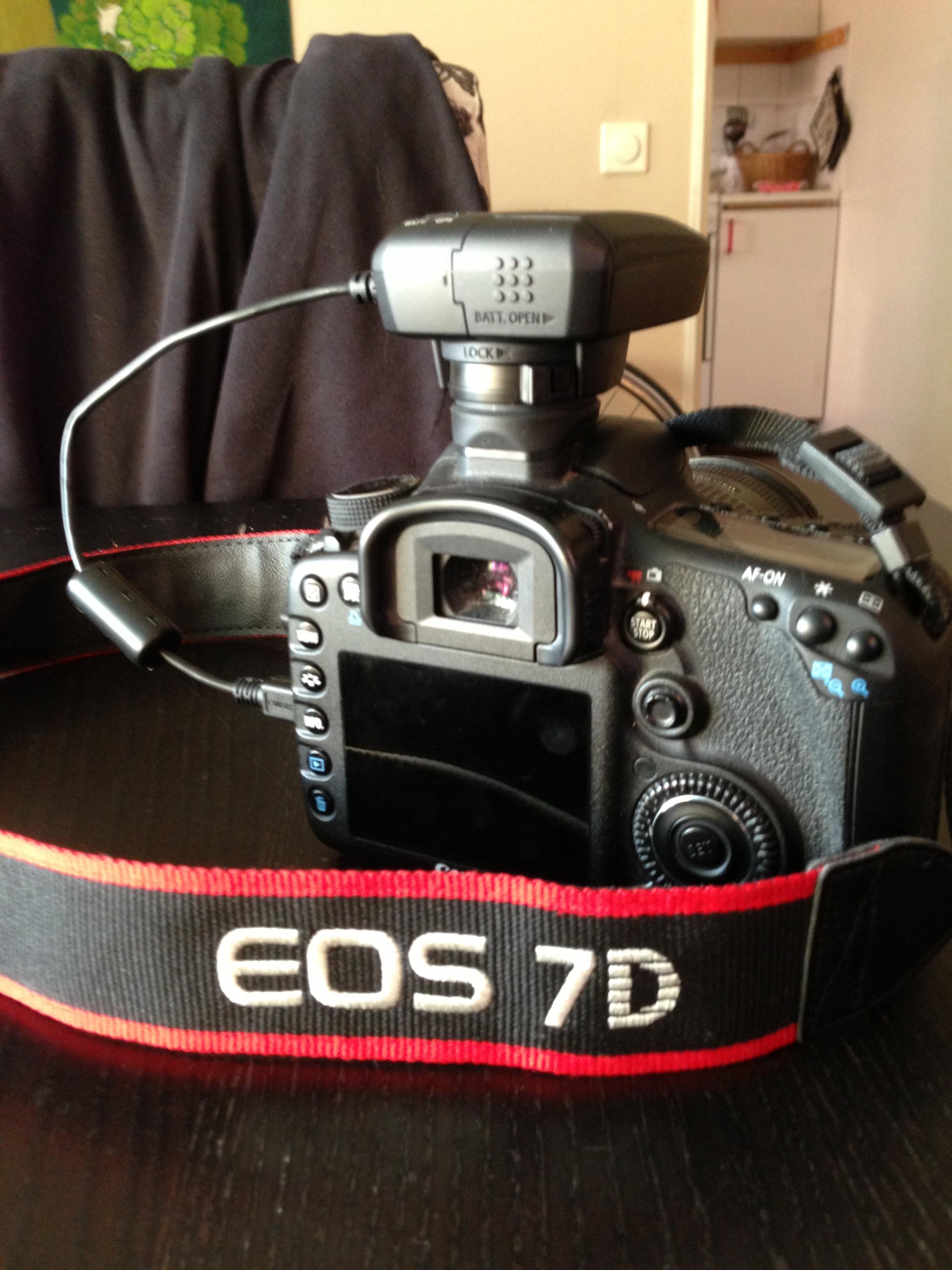 Bild: Canon EOS 7D med GP-E2 GPS-mottagare