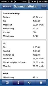 Bild: Skärmdump från Garmin Connect löpning