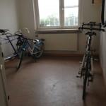 Bild: Cykelförråd med cyklar