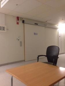 Bild: Väntrum röntgen Huddinge sjukhus