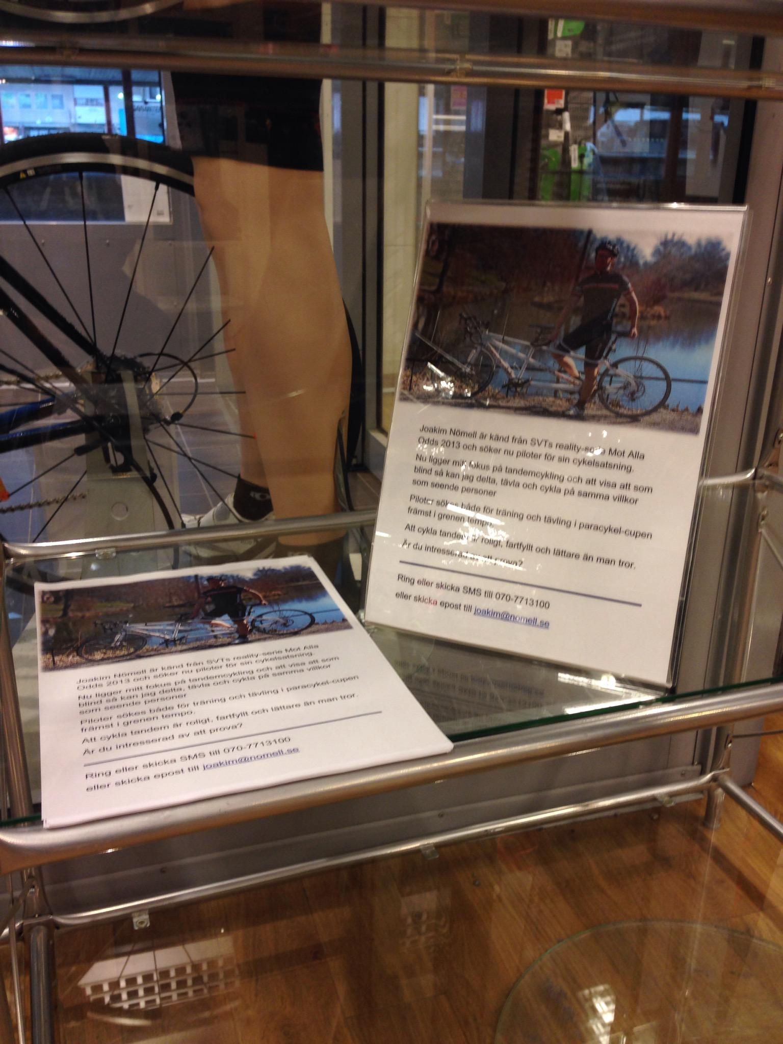 Bild: Anslag i cykelbutik