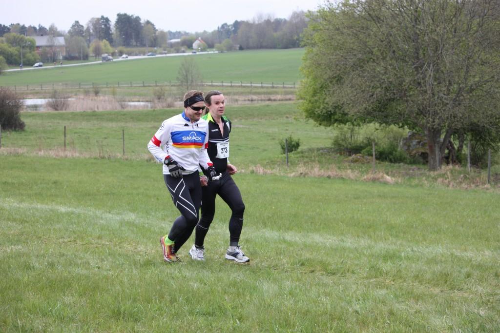 Bild: Växling efter 2,5km löpning