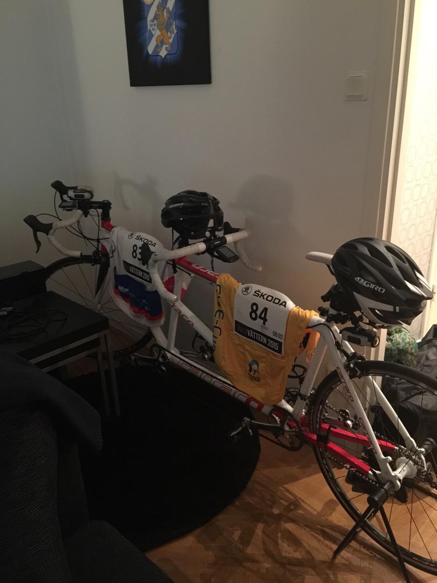 Bild: Tandemcykel i vardagsrum