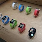 Bild: ett gäng olika modeller av Apple Watch