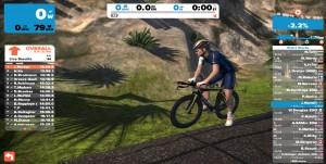 Bild: Zwift-cyklist från sidan vid vägkanten