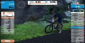 Bild: Zwift-cyklist från sidan