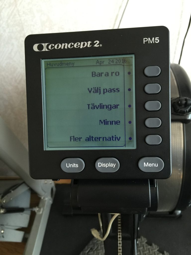 Bild: Concept2 roddmaskin Performance Monitor 5 (PM5)