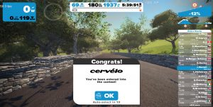Bild: Zwift Cervélo Mission finished