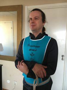 Bild: Joakim Nömell i löparkläder inför Stockholm Tunnel Run Citybanan 2017