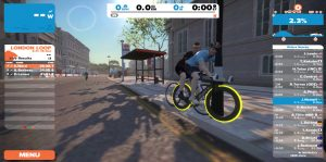 Bild: Zwift-cyklist i London