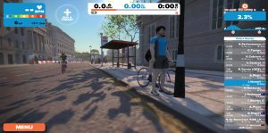 Bild: Zwift-löpare i London