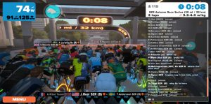 Bild: Zwift race före start