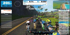 Bild: Zwift Race från banan