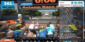 Bild: Zwift Race med några sekunder till start!