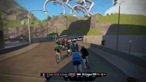 Bild: Zwift race efter start