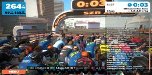 Bild: Zwift Race, 4 sekunder till start