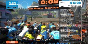 Bild: Zwift SZR Race 9 sekunder till start