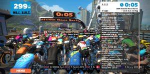 Bild: Zwift SZR Race 5 sekunder till start
